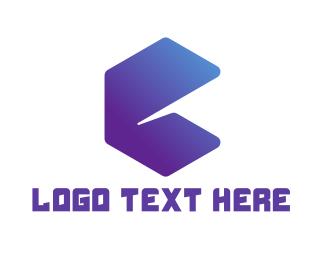 Polygon - Abstract Letter E logo design