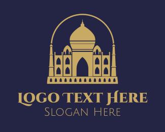 India - Gold Indian Castle logo design