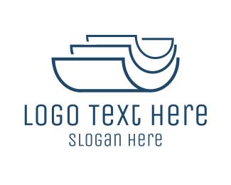 Office Supplies - Blue Files logo design