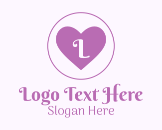 Lovely - Lilac Heart Lettermark logo design