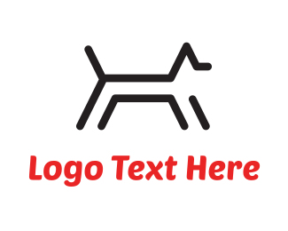 Ancient - Black Dog Lines logo design