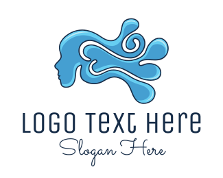 Blow Dryer - Water Woman logo design