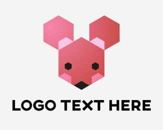 Programmer - Cute Hexagon Animal logo design