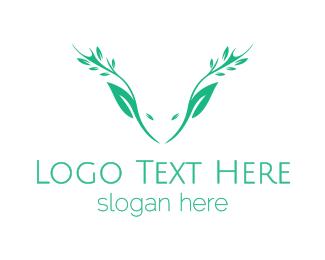 Wild Life - Green Nature Deer  logo design