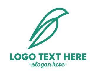 Massage Parlor - Abstract Leaf Outline logo design