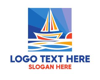 Voyage - Sunrise Navigation logo design