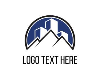 Skyline - Pyramids & Buildings logo design