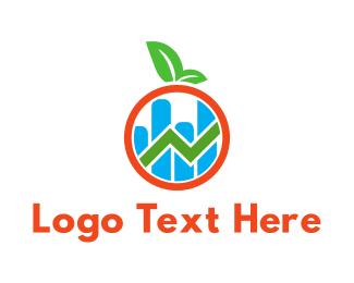 Stats - Financial Apple logo design