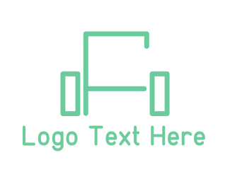 Chair - Green Sofa Lines logo design