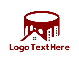 Home - Red Paint Can logo design