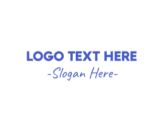 School - Casual Blue logo design
