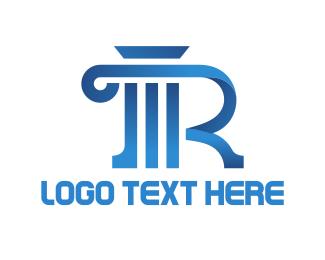 Pillar - Column Letter R logo design