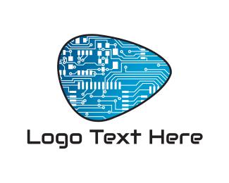 Chip - Circuit Pick logo design