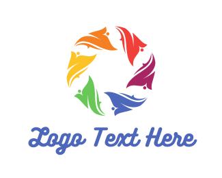 Multicolor - Floral Circle logo design