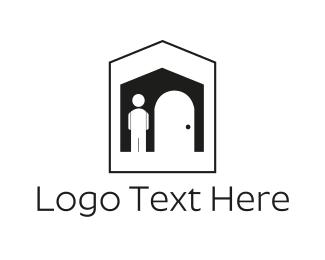 Real Estate - Black House logo design