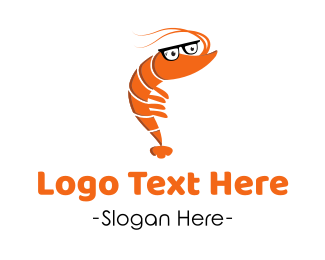 Shrimp - Smart Shrimp logo design