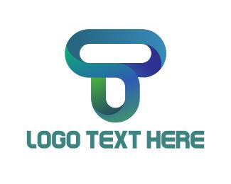 Letter T - Modern Letter T logo design