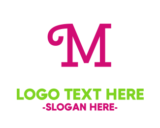 Curly - Curly Pink M logo design