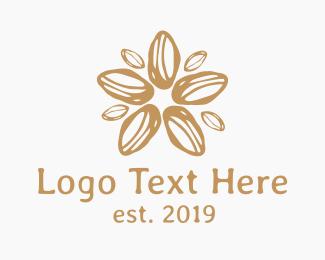 Flower Shop - Coffee Bean Flower Star logo design
