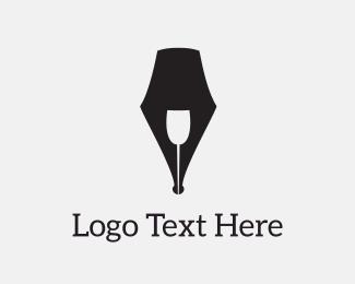 Nightclub - Wine Script logo design