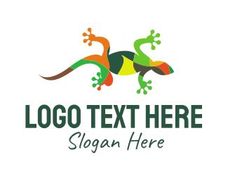 Lizard - Gecko Mosaic logo design
