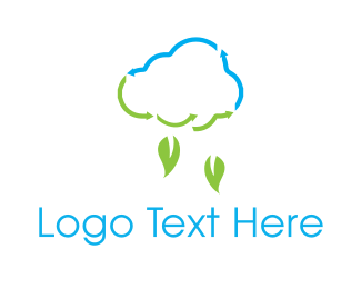 Ecological - Leaf Rain logo design