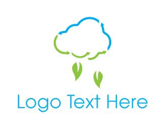 Recyclable - Leaf Rain logo design