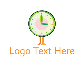 Hour - Eco Clock logo design
