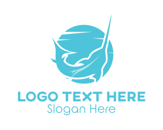 Fishing - Blue Swordfish  logo design
