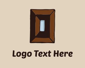 Carpenter - Wood Rectangle logo design