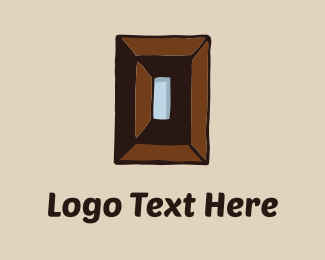 Solid - Wood Rectangle logo design