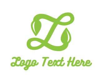 Script - Leafy Z Script logo design