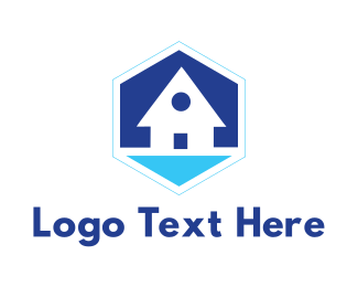 Beach - Blue Beach House logo design