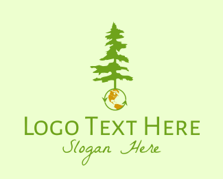 Recycling - Earth & Tree logo design