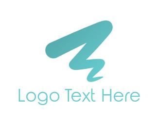 Artist - Blue Brushstroke  logo design