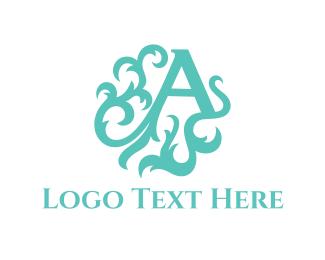 Elegance - Mint Letter A logo design