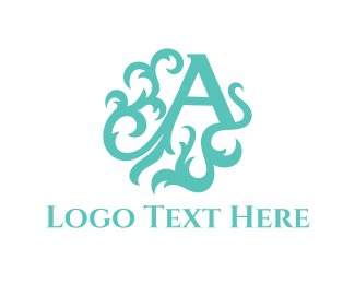 Text - Mint Letter A logo design