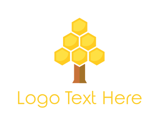 Honeycomb - Honey Tree logo design