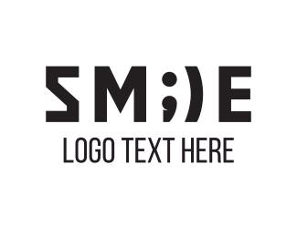 Parentheses - Smile Emoji logo design