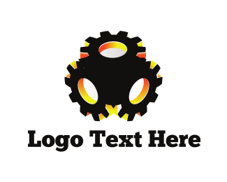 Manufacturer - Black Gear logo design
