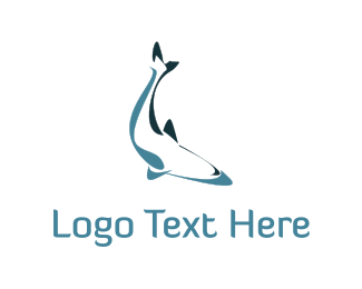 Fin - Abstract Fish logo design