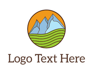 Hiking - Mountain Farm logo design