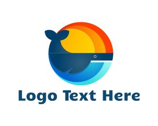 Summer - Round Whale logo design