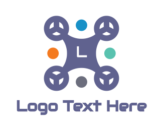 Electronic Device - Colorful Drone logo design