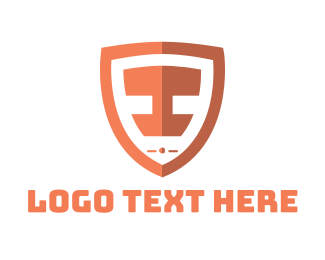 Emblem - Shield Letter I logo design