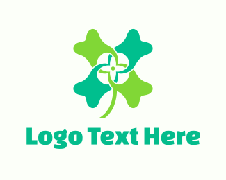 Four Leaf Clover - Tooth Clover logo design