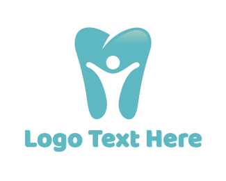 Dental - Dental Person logo design