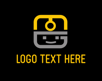 Helmet - Face App Light Helmet logo design
