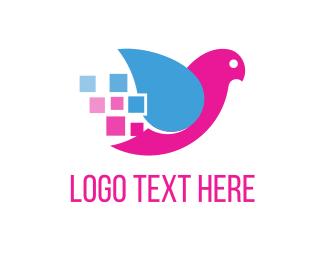 Bird & Squares Logo