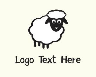 Wool - White Sheep logo design
